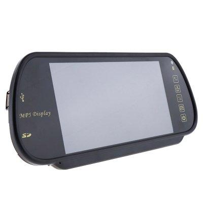 Зеркало заднего вида с монитором 7 дюймов 12/24в с USB и MP5 проигрывателем
